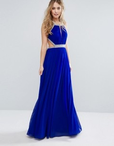 Платье макси с декоративной отделкой Forever Unique - Синий