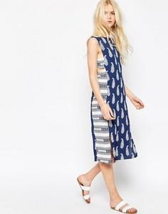 Платье миди с принтом ASOS - Мульти
