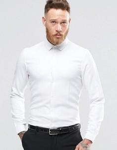 Белая рубашка классического кроя из фактурной саржи ASOS - Белый