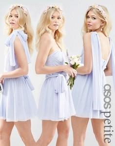 Короткое сетчатое платье-трансформер ASOS PETITE WEDDING - Синий