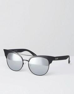 Солнцезащитные очки кошачий глаз с зеркальными стеклами Quay Australia Zig - Черный