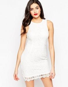 Ажурное платье мини Sistaglam Amber - Белый
