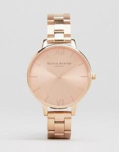 Наручные часы с большим циферблатом цвета розового золота Olivia Burton - Золотой