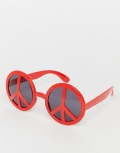 Солнцезащитные очки с оправой в виде пацификов Jeepers Peepers - Красный