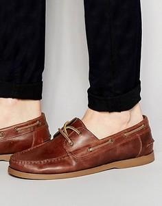 Светло-коричневые кожаные мокасины ASOS - Рыжий