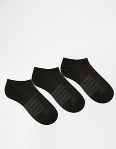 3 пары носков‑подследников New Balance - Черный