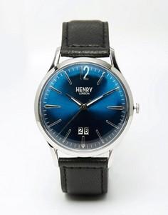 Часы с кожаным ремешком Henry London Knightsbridge - Черный