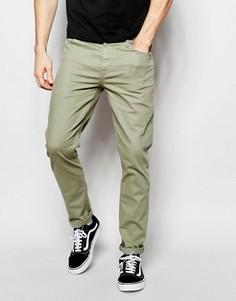 Зауженные светлые джинсы цвета хаки ASOS - Зеленый