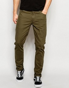 Зауженные джинсы цвета хаки ASOS - Зеленый