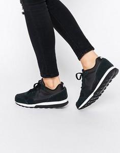 Черно-белые кроссовки для бега Nike MD - Черный