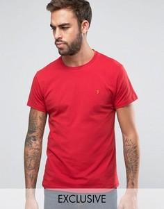 Эксклюзивная футболка слим с логотипом F Farah - Красный