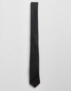 Узкий черный галстук ASOS - Черный