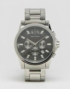 Часы с ремешком из нержавеющей стали Armani Exchange AX2092 - Серебряный