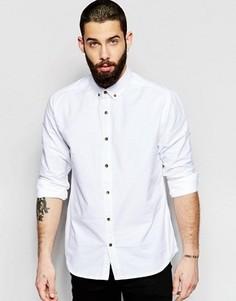 Оксфордская рубашка классического кроя Only & Sons - Белый