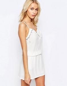 Платье на шнуровке с декоративной отделкой See U Soon - Белый