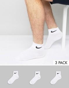 3 пары носков длиной три четверти Nike SX4706-101 - Белый