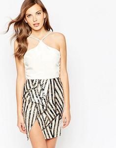 Платье мини VLabel Brompton - Белый