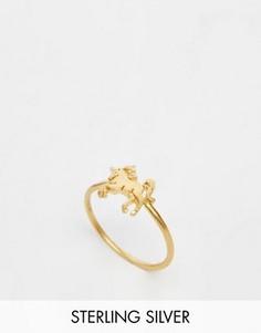 Позолоченное кольцо с единорогом Dogeared Life is Magical - Золотой