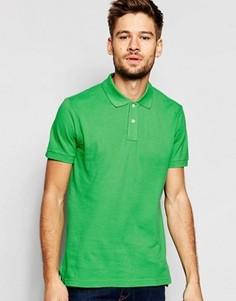 Узкая футболка-поло из ткани пике с короткими рукавами Esprit - Зеленый