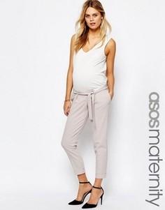 Брюки-галифе для беременных с поясом‑оби ASOS Maternity - Черный
