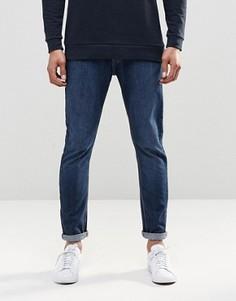 Стретчевые джинсы скинни с эффектом поношенности LDN DNM - Синий