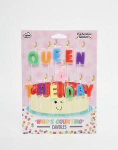 Свечи для торта NPW Queen For The Day - Мульти