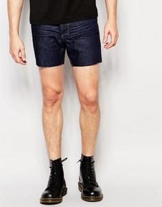 Короткие джинсовые шорты Religion - Синий