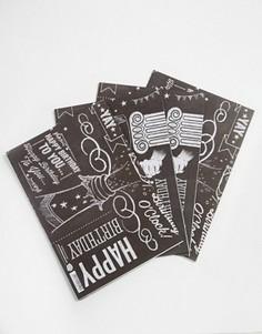 4 листа подарочной упаковочной бумаги Brainbox Candy Chalk - Мульти Gifts