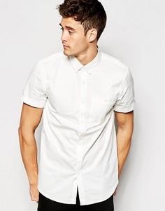 Поплиновая классическая рубашка с короткими рукавами Jack Wills - Белый