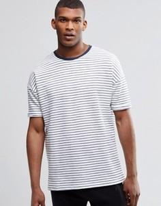 Oversize-футболка в полоску ASOS - Белый