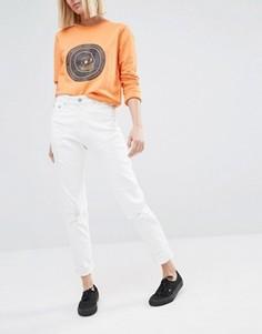 Укороченные джинсы в винтажном стиле с завышенной талией Cheap Monday - Белый