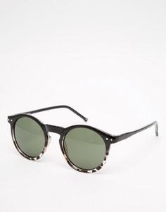 Круглые солнцезащитные очки ASOS - Черный