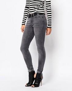 Серые выбеленные джинсы скинни Vero Moda - Серый