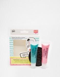 Набор смываемой краски для волос с трафаретами - Бесцветный Beauty Extras