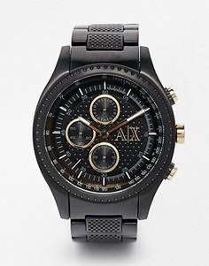Черные часы с хронографом из нержавеющей стали Armani Exchange AX1604 - Черный