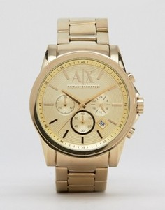 Часы золотого цвета из нержавеющей стали с хронографом Armani Exchange AX2099 - Золотой