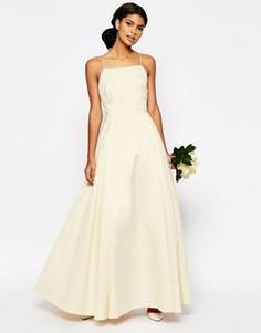Платье макси для выпускного ASOS BRIDAL - Белый