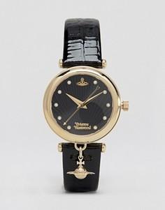 Черные часы с подвеской Vivienne Westwood Time Machine VV108BKBK - Черный
