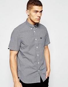 Рубашка с короткими рукавами в клеточку Fred Perry - Черный