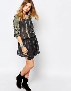 Черная юбка с вышивкой Gat Rimon - Черный