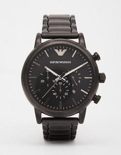 Черные часы с хронографом из нержавеющей стали Emporio Armani AR1895 - Черный