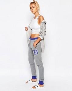 Спортивные штаны зауженного кроя Majestic Brooklyn - Серый