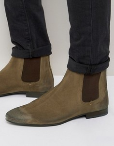 Замшевые ботинки челси Walk London - Рыжий