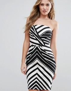 Платье-футляр в черно-белую полоску Lipsy - Мульти