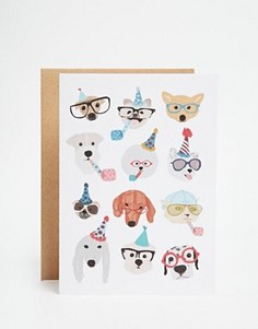Открытка Ohh Deer Party Dogs - Мульти