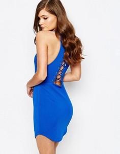 Облегающее платье со шнуровкой сзади Ginger Fizz - Синий