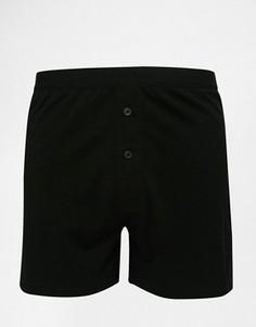 Черные трикотажные боксеры ASOS - Черный