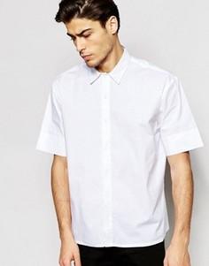 Oversize-рубашка с короткими рукавами ADPT - Белый