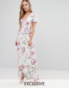 Платье макси с винтажным цветочным принтом Hope and Ivy - Мульти