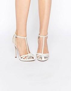 Решетчатые туфли на каблуке ASOS PEACE - Белый